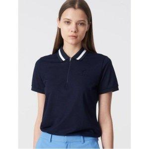 빈폴스포츠  네이비 여성 COOLHAN 한지 집업 피케 티셔츠 BO9442C03R