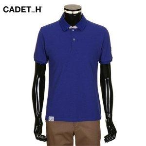 인솔리토 페리젠슨   하프클럽/인솔리토 면혼방 소매자수 반팔 블루 카라티셔츠.ITS14