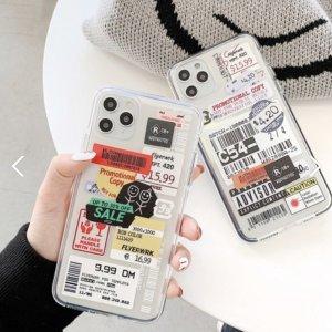 아이폰 투명 스티커 라벨 케이스