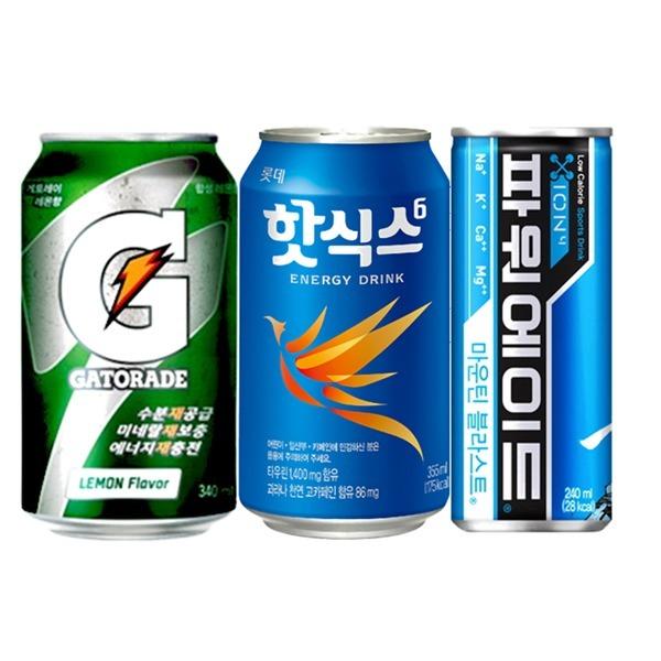 롯데 핫식스 355ml x 24캔 에너지드링크 음료수