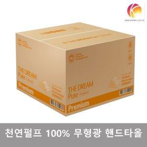 천연펄프 100% 무형광 핸드타올 100매X40밴드/4000매