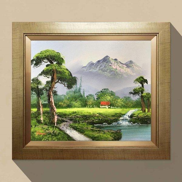 번영의 소나무그림 돈들어오는그림 풍수지리액자 10호