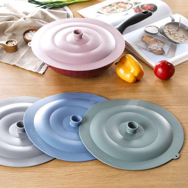 실리콘 후라이팬 뚜껑 덮개 커버 33cm 그릇덮개