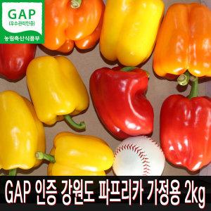 GAP인증 아삭아삭 달콤하고 파프리카 가정용 2kg
