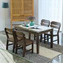 다빈치 대리석 4인식탁세트 대리석식탁/의자형/제니스