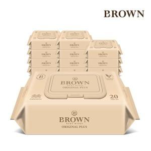 브라운 아기물티슈 20매 휴대 캡 12팩 모음