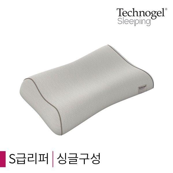 (테크노젤)  S급리퍼  싱글  테크노젤 컨투어 베개 프리미엄형 09/11cm(그레이커버)