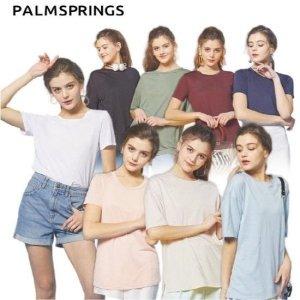 팜스프링  팜스프링스  여성 소프트 플랙스 티셔츠 8종택1