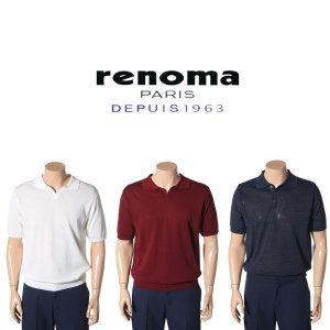레노마_셔츠(남성) 여름 남자의멋을 위한 반팔니트 5종모음 RKUSW1-001-NY