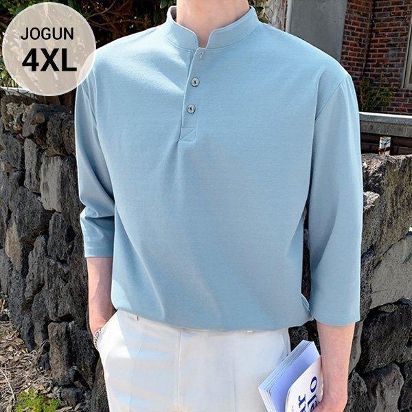 조군샵  조군샵 조군샵 리턴즈 헨리넥 7부 티셔츠_JG1480