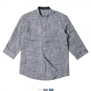차이나카라 7부 남자반팔셔츠 빅사이즈 3colors