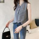 여성 남방 나시 V넥 셔츠 줄무늬 셔츠 빅사이즈 MI01