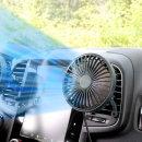 차량용 브릿지 LED 무드등 선풍기 송풍구형 차콜그레이