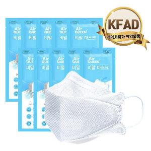 국산 KFAD 에어퀸 비말차단마스크 대형 20매 (2p 10팩)