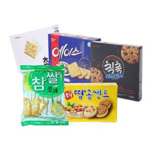 과자세트 탕비 간식 참 땅콩 에이스 선과 칙촉/5종