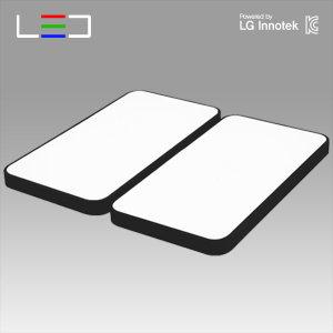 원라이팅 LED 거실등 심플 블랙 100W 국산 LG칩