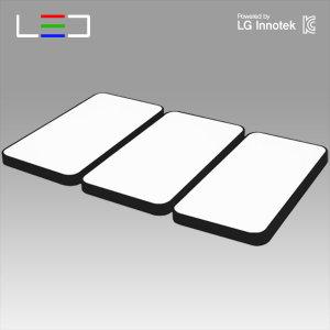 원라이팅 LED 거실등 심플 블랙 150W 국산 LG칩