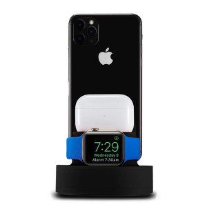 3IN1 아이폰 애플워치 에어팟 충전거치대(블랙)