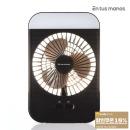 휴대용 LED 네모 선풍기 미니 탁상용선풍기 블랙