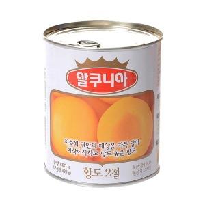 농심 알쿠니아 황도 850g x 1캔 / 황도통조림