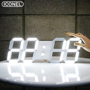 아이코넬 LED 벽시계 벽걸이 무소음 시계 38cm 크기