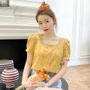 여성 여름신상 네모 반팔 티셔츠 블라우스 PW65