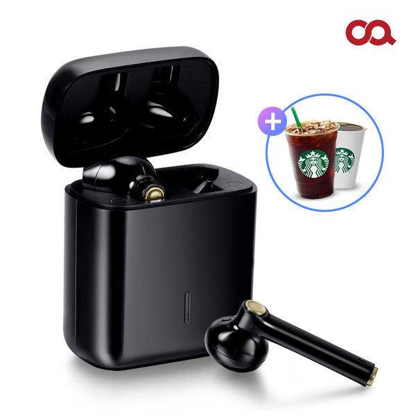 큐피B3 TWS 블루투스 완전 무선 이어폰 블랙 OA-EP033
