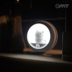 충전식 무선 동작감지 고양이 LED 자동 센서등 OL-CAT