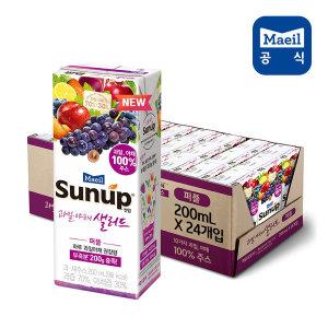 썬업 과일야채샐러드 퍼플 200ml 24팩/과채주스/음료