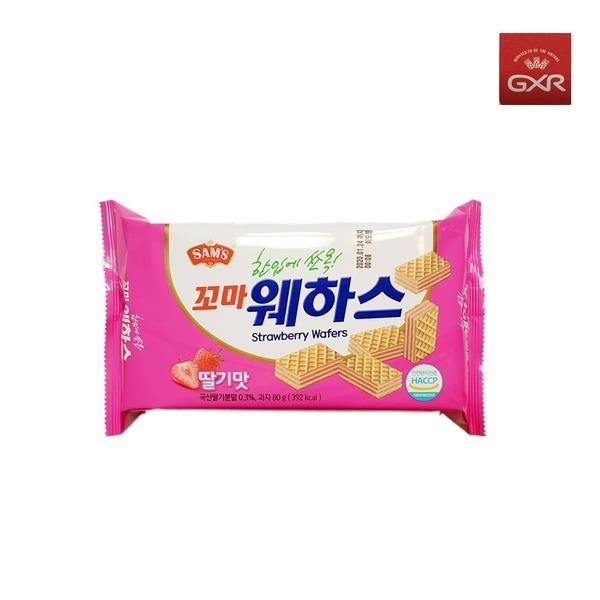 삼아 Sams 꼬마웨하스 딸기맛 80g /과자/쿠키/비스켓