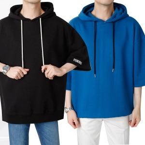 남자 여름 후드티/봄/티셔츠/맨투/후드/프린팅/레터링