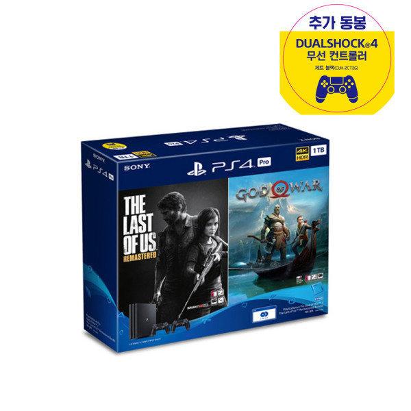 소니  PS4 플스4 프로 (CUH-7218B) 1TB 갓오브 라오어 듀얼쇼크(2대) 패