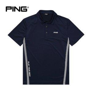핑  PING  남성 메쉬 사선 포인트 반팔 티셔츠 11292TO919_NA