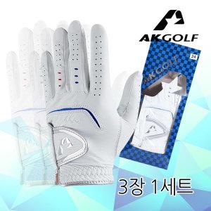 AKGOLF  AK 천연양피 남성골프장갑  3장 1세트