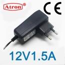 아답터 12V1.5A CE인증제품 EU유럽 안전인증 제품