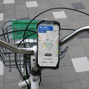 따릉이 자전거스마트폰거치대 실리콘재질 킥보드