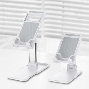 탁상용 스마트폰 휴대폰 태블릿 거치대 높이조절 폴딩