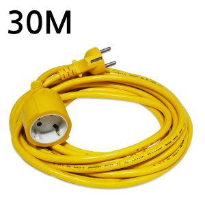 작업등 전원 연장케이블/전기연장선 1구(동양)-30m