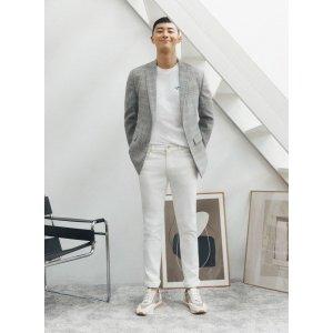 리얼지오지아(남성)   지오지아 화이트 크롭핏 데님 팬츠 ADA5DP1925WT DJSA