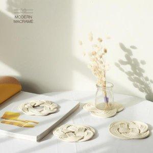마크라메재료 4종 컵받침 만들기 DIY 세트 매듭공예