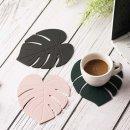 나뭇잎 실리콘 컵받침 A타입 티코스터 코스터 12cm