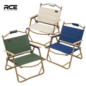 RCE 접이식 캠핑 에코 로우 체어 우드무늬 단품