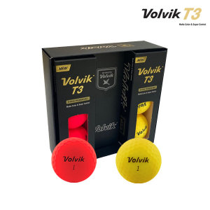 T3 비비드 무광 6구 3피스 골프공 컬러볼/화이트볼