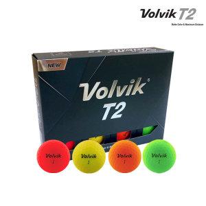 T2 비비드 무광 12구 골프공 2피스 컬러볼/화이트볼