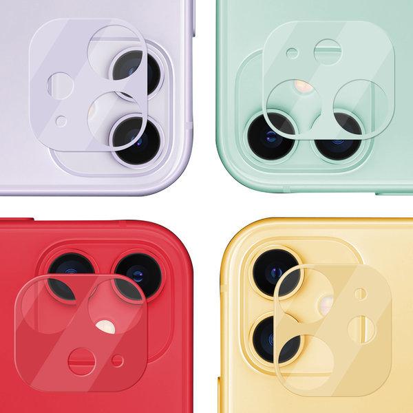 1+1 TRK 아이폰 11 카메라 컬러 강화유리 보호 필름