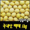 샘골마을 국내산-백태1kg 노오란 메주콩