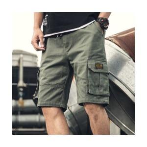 K835 남성 카고 포켓 허리밴딩 반바지 남자 여름옷