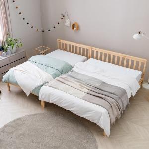 아씨방가구 듀플 DIY 원목 침대SS (매트별도)