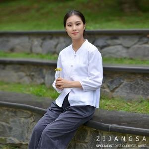 2063 30수자수핀탁오픈한벌 봄여름 여자생활한복