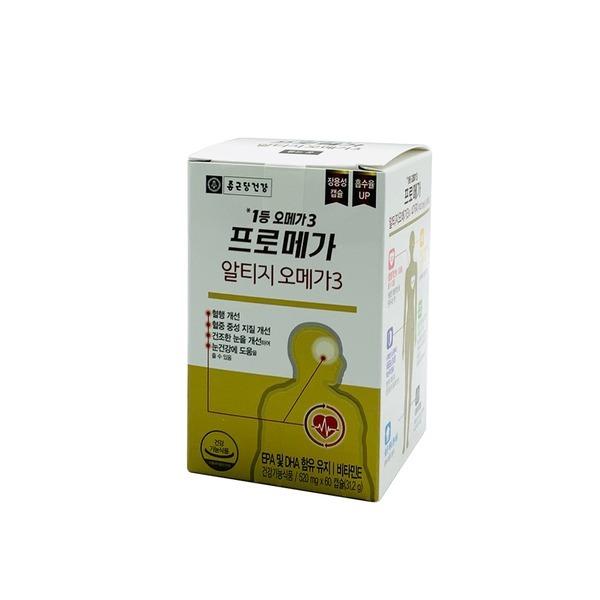 종근당건강 프로메가 알티지 오메가3 60캡슐 x 1박스A
